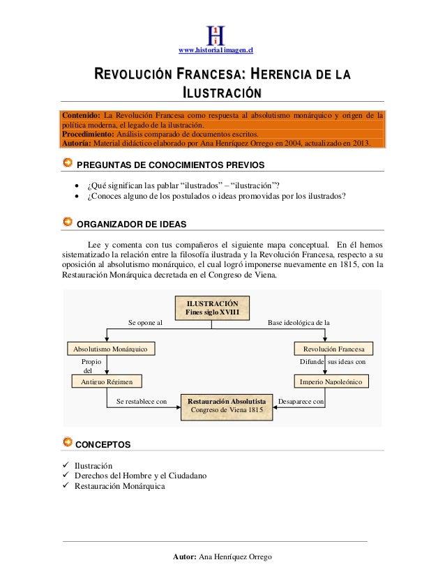 www.historia1imagen.cl         REVOLUCIÓN FRANCESA: HERENCIA DE LA                     ILUSTRACIÓNContenido: La Revolución...