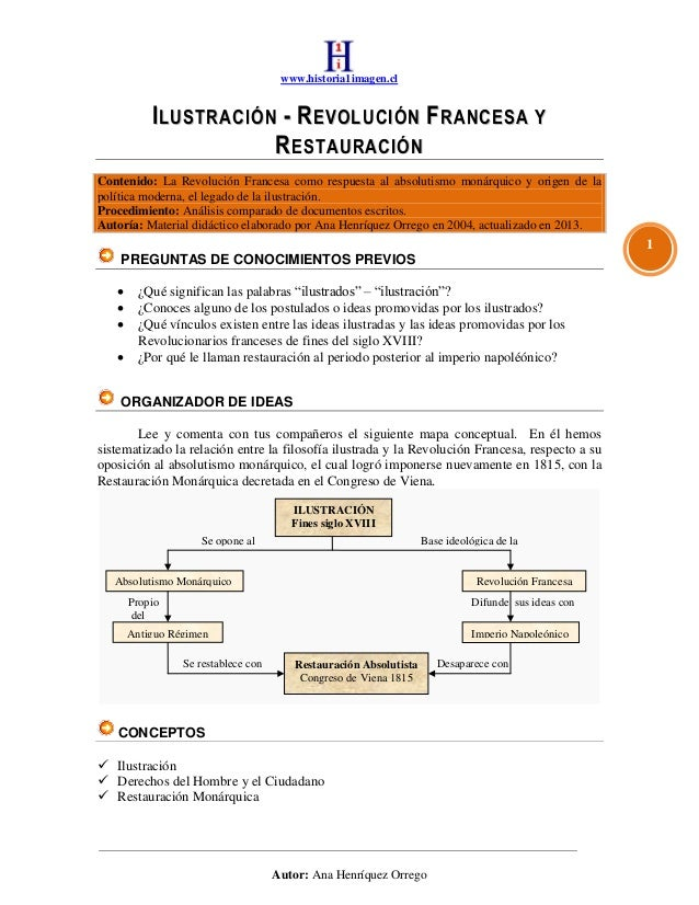 www.historia1imagen.clAutor: Ana Henríquez Orrego1IILLUUSSTTRRAACCIIÓÓNN -- RREEVVOOLLUUCCIIÓÓNN FFRRAANNCCEESSAA YYRREESS...
