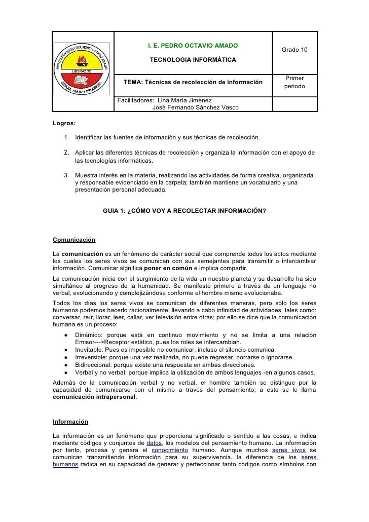I. E. PEDRO OCTAVIO AMADO                                                                                         Grado 10...