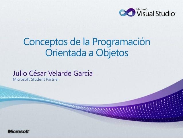 Julio César Velarde GarcíaMicrosoft Student Partner