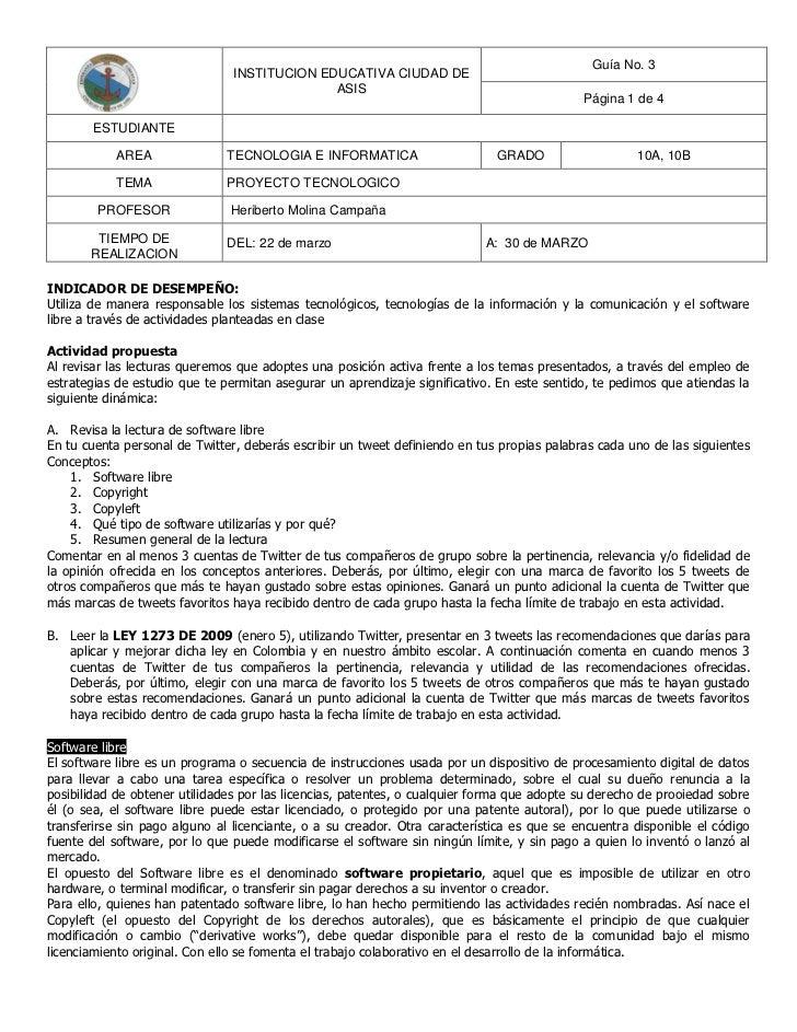 Guía No. 3                                INSTITUCION EDUCATIVA CIUDAD DE                                              ASI...