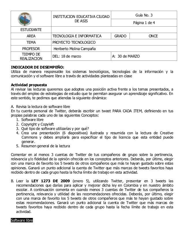 INSTITUCION EDUCATIVA CIUDAD                        Guía No. 3                                      DE ASIS               ...