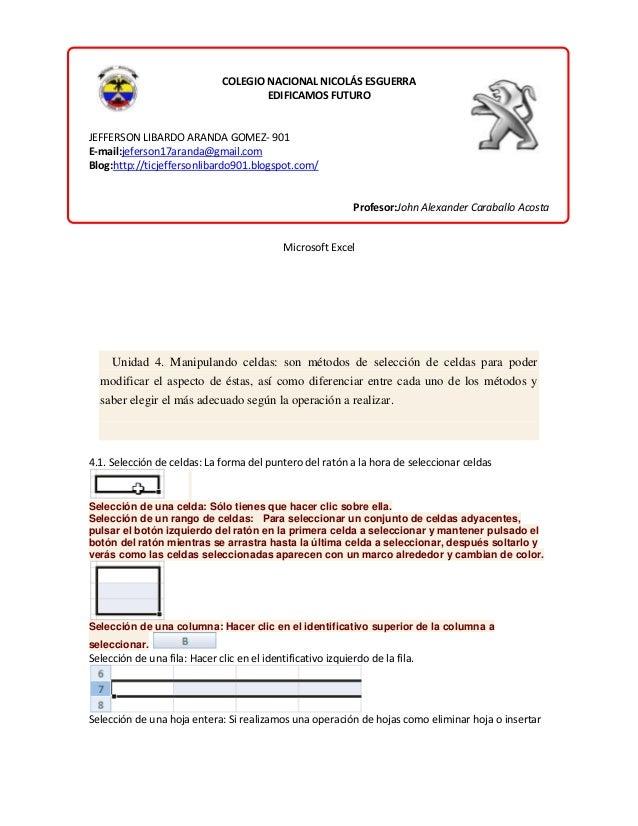 COLEGIO NACIONAL NICOLÁS ESGUERRA EDIFICAMOS FUTURO  JEFFERSON LIBARDO ARANDA GOMEZ- 901 E-mail:jeferson17aranda@gmail.com...