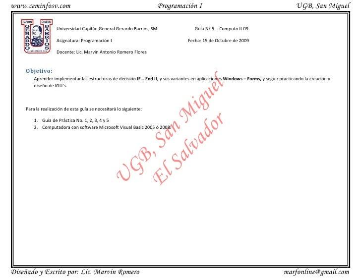 www.ceminfosv.com                                                   Programación I                                        ...