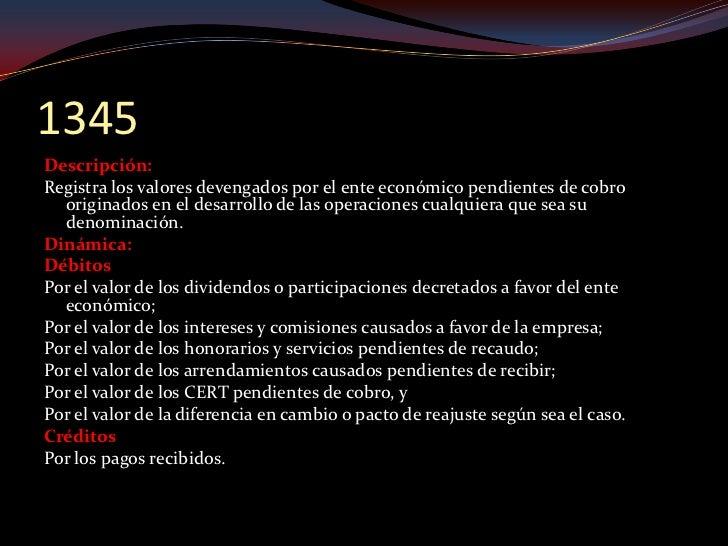 1355 Descripción: Registra los saldos a cargo de entidades gubernamentales y a favor del ente económico, por    concepto d...