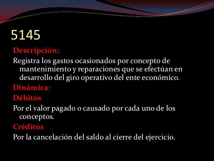 5150 Descripción: Registra los gastos ocasionados por concepto de   adecuación e instalación de oficinas efectuados por el...