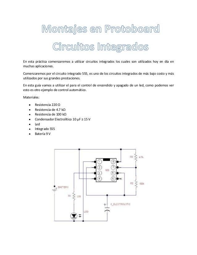En esta práctica comenzaremos a utilizar circuitos integrados los cuales son utilizados hoy en día en muchas aplicaciones....