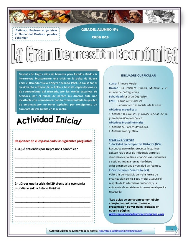 Autores: Mónica Aravena y Nicolle Reyes/ http://recursosdehistoria.wordprees.comENCUADRE CURRICULARCurso: Primero MedioUni...