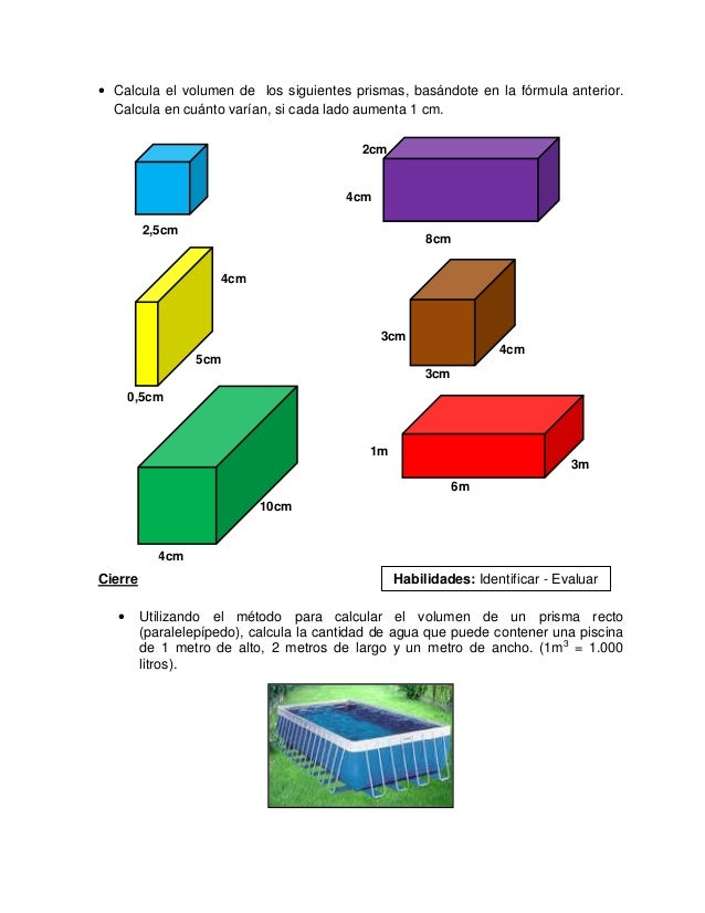 Guia 7 lunes 20 octubre resoluci n de p roblemas 1 for Calcular volumen piscina