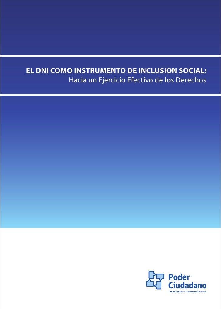 EL DNI COMO INSTRUMENTO DE INCLUSION SOCIAL:           Hacia un Ejercicio Efectivo de los Derechos