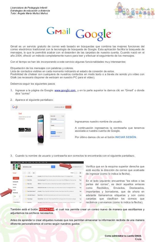 Guia administrar cuenta gmail