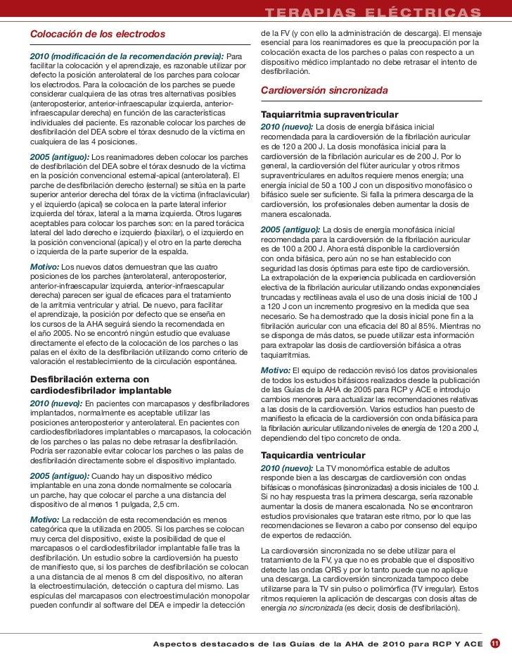 TERAPIAS ELÉCTRICASColocación de los electrodos                                          de la FV (y con ello la administr...