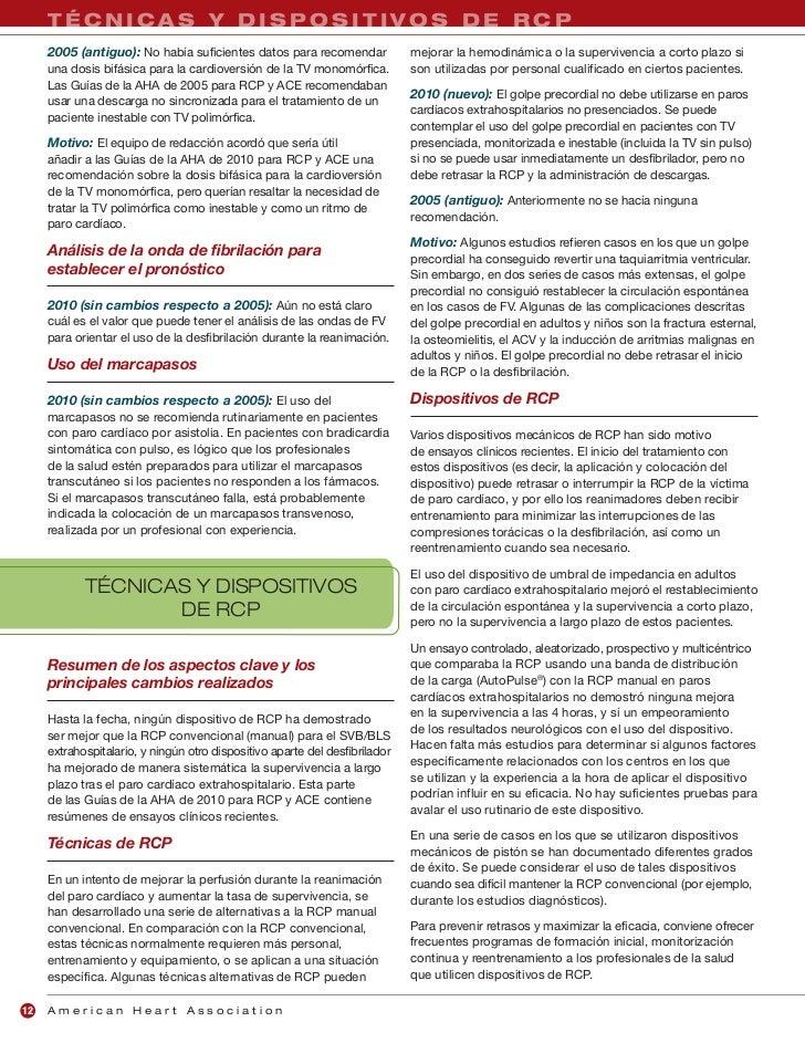 American Heart Association Guías para reanimacion
