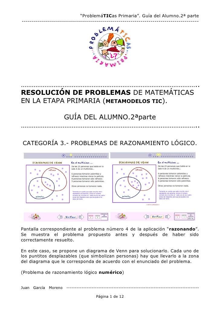 """""""ProblemáTICas Primaria"""". Guía del Alumno.2ª parte -----------------------------------------------------------------------..."""