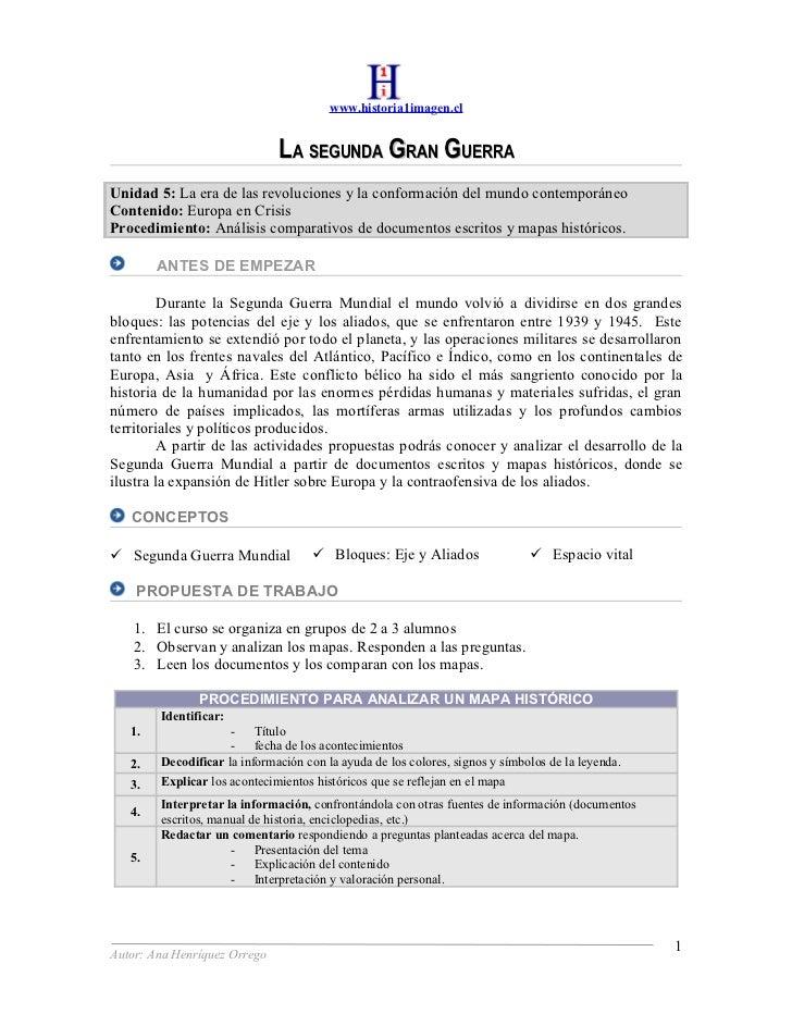 www.historia1imagen.cl                                 LA SEGUNDA GRAN GUERRA Unidad 5: La era de las revoluciones y la co...