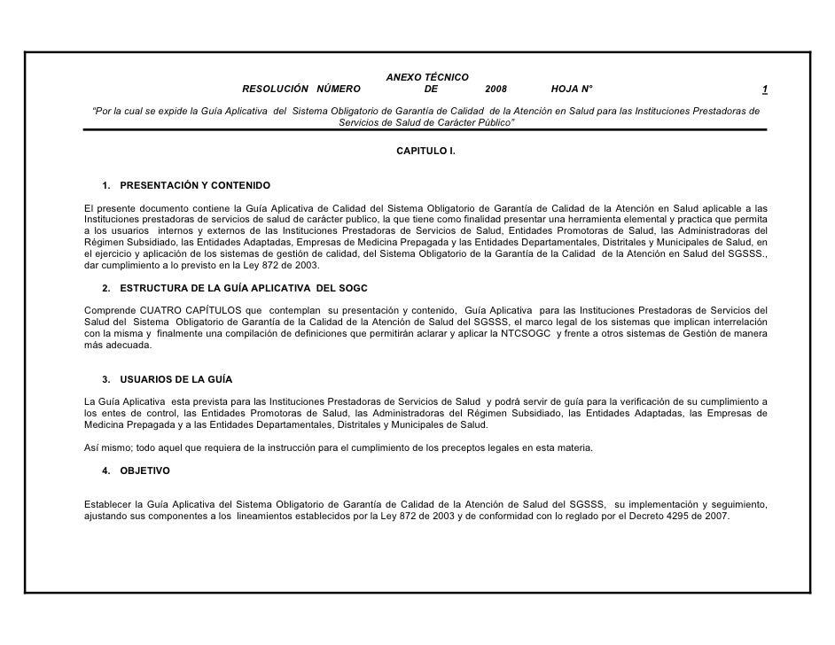 ANEXO TÉCNICO                                   RESOLUCIÓN NÚMERO                      DE              2008           HOJA...