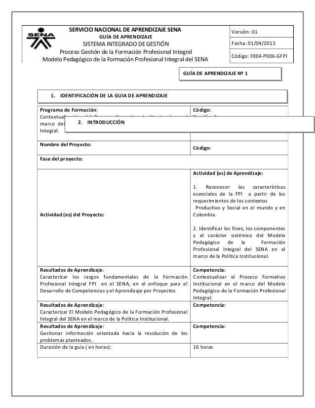 SERVICIO NACIONAL DE APRENDIZAJE SENA                                Versión: 01                         GUÍA DE APRENDIZA...