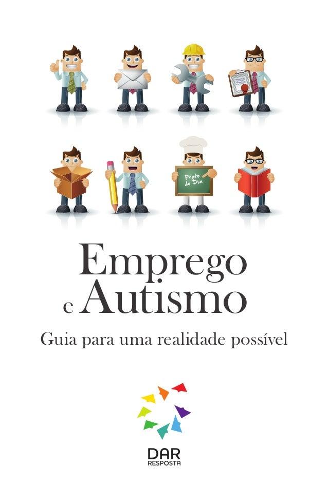 Prato  do Dia  Emprego  e Autismo  Guia para uma realidade possível