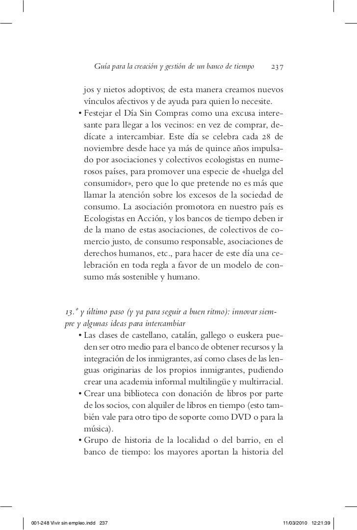 Guía para la creación y gestión de un banco de tiempo   237                        jos y nietos adoptivos; de esta manera ...