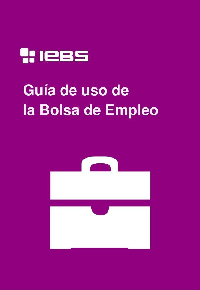 Guía de uso de la Bolsa de Empleo