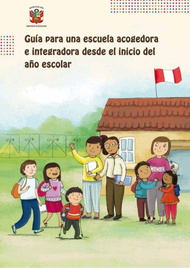 Guía para una escuela acogedora e integradora desde el inicio del año escolar