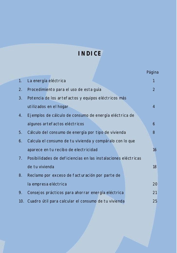 INDICE                                                                     Página1.   La energía eléctrica                ...