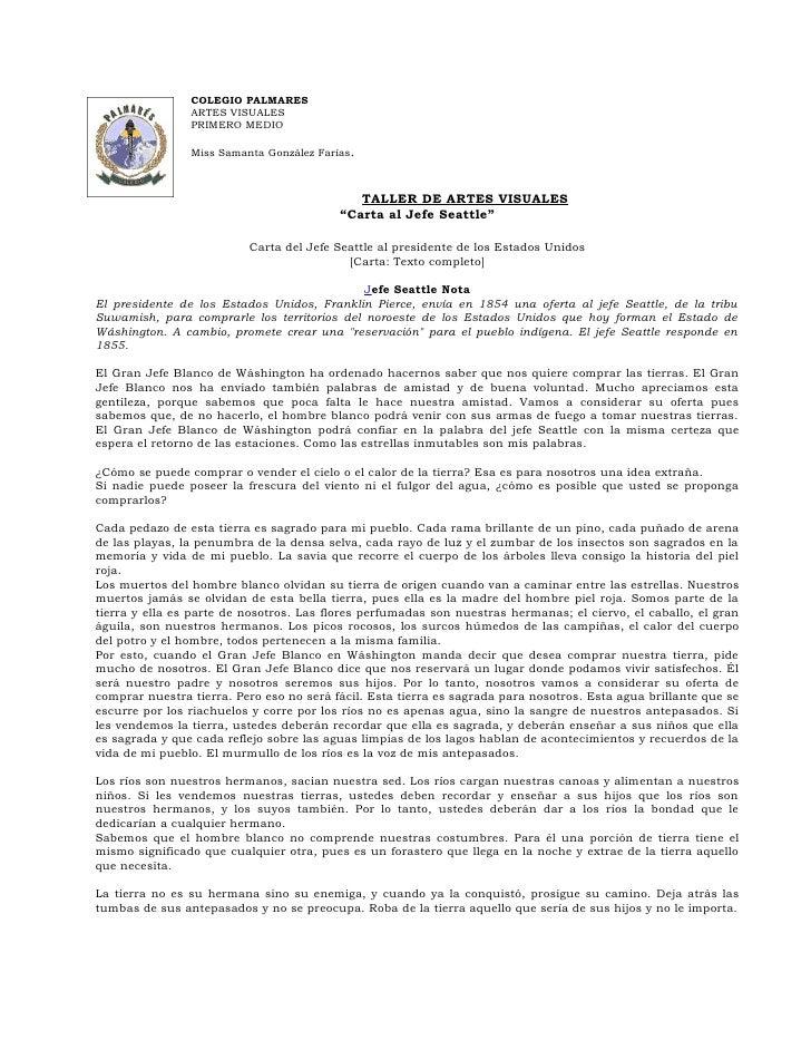 COLEGIO PALMARES                 ARTES VISUALES                 PRIMERO MEDIO                  Miss Samanta González Faría...