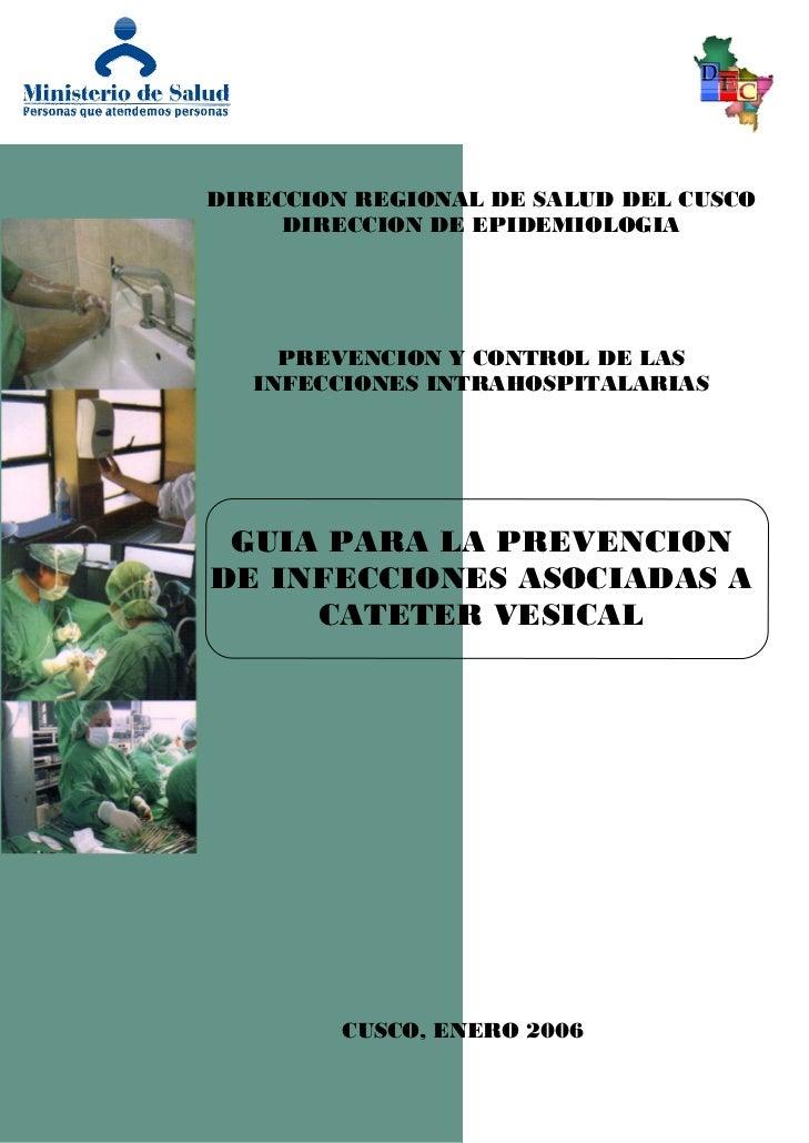 DIRECCION REGIONAL DE SALUD DEL CUSCO     DIRECCION DE EPIDEMIOLOGIA     PREVENCION Y CONTROL DE LAS   INFECCIONES INTRAHO...