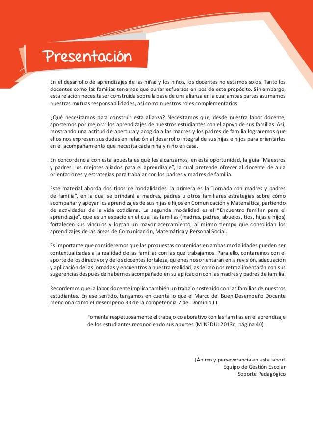GUIA DE JORNADAS Y ENCUENTROS FAMILIARES 3º Y 4º GRADO