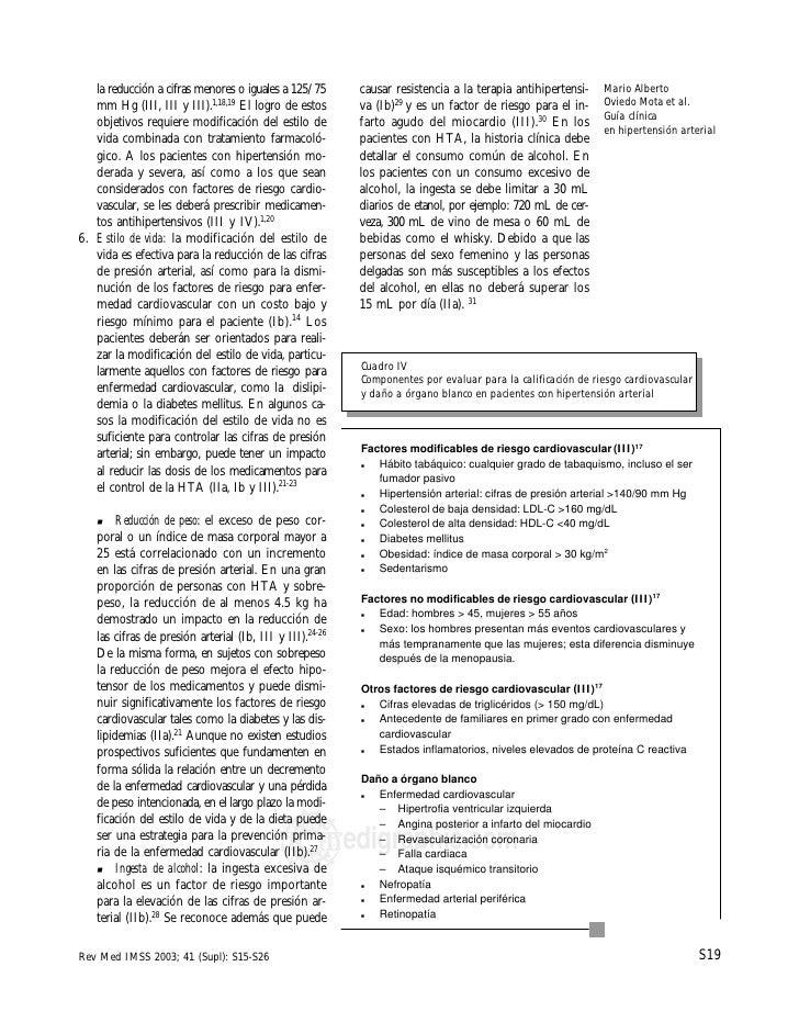 Guia clinica para hipertension imss
