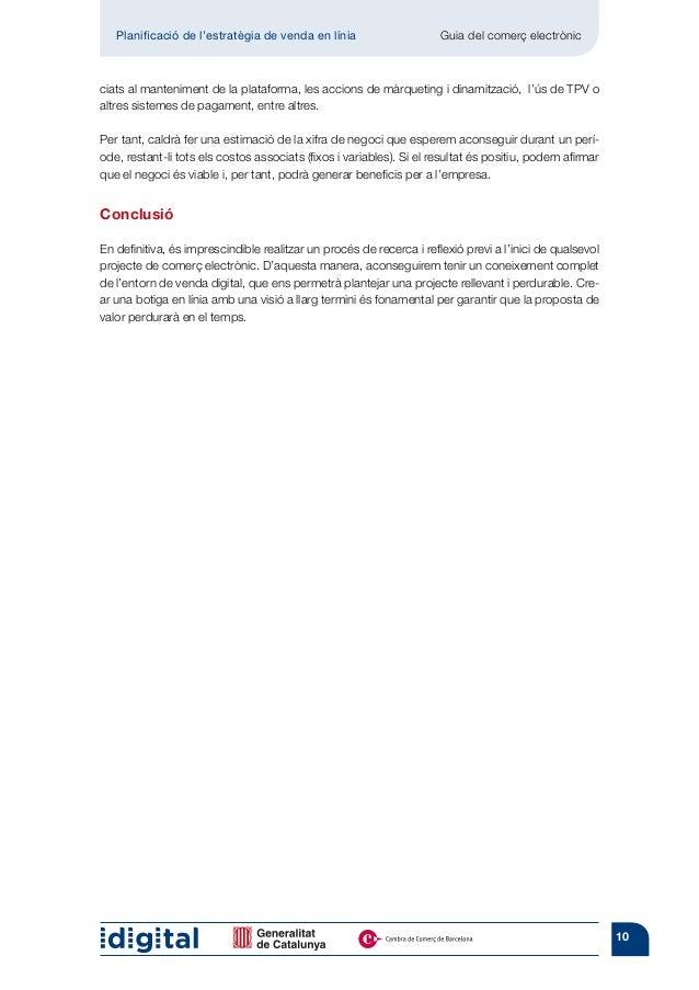Planificació de l'estratègia de venda en línia                    Guia del comerç electrònicciats al manteniment de la pl...