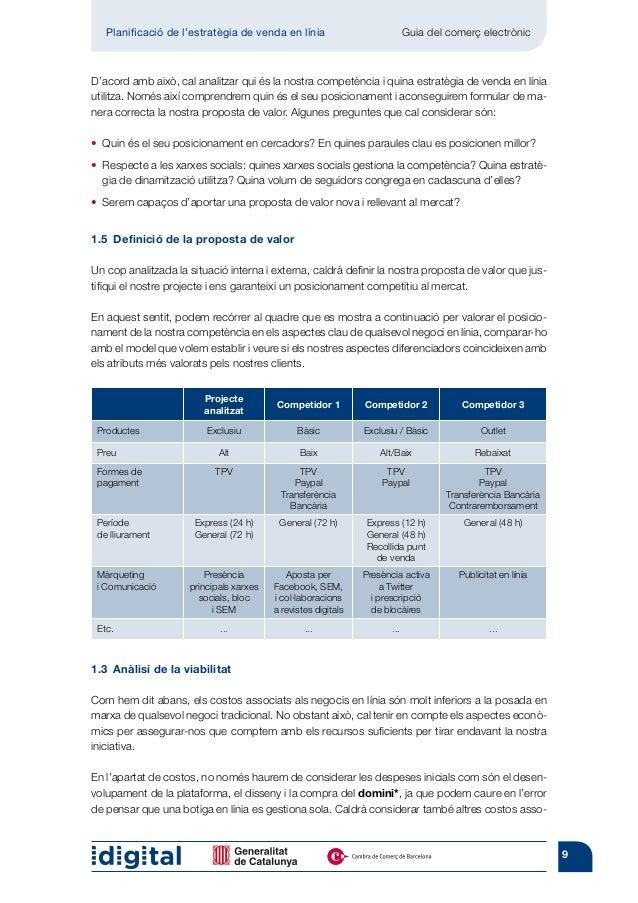 Planificació de l'estratègia de venda en línia                          Guia del comerç electrònicD'acord amb això, cal a...
