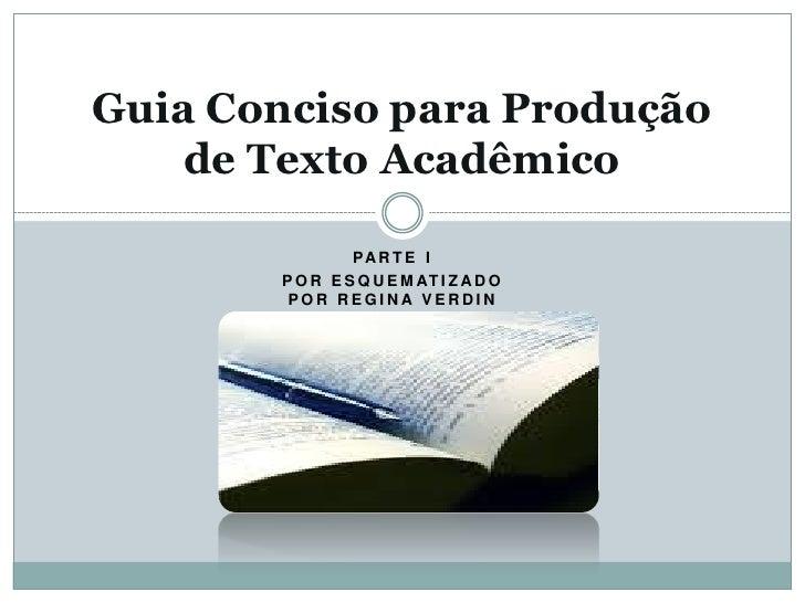 Guia conciso para produção de texto