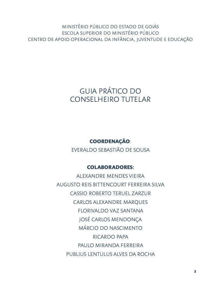 MINISTÉRIO PÚBLICO DO ESTADO DE GOIÁS            ESCOLA SUPERIOR DO MINISTÉRIO PÚBLICOCENTRO DE APOIO OPERACIONAL DA INFÂN...