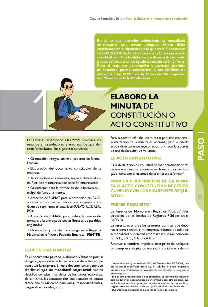 Guia constitucion empresas3 for Lista de empresas en lima