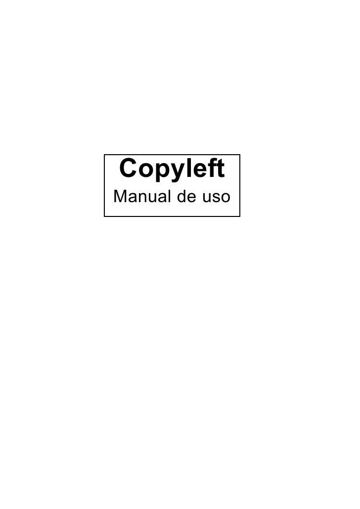 CopyleftManual de uso