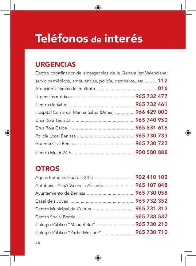 Gu a recursos sanitarios benissa 2013 for Telefono bricodepot valencia