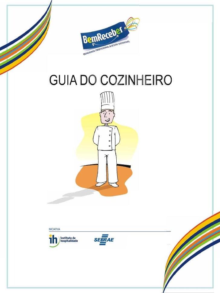 Guia cozinheiro, Programa Bem Receber, Guias de profissões,  Sebrae e Instituto de Hospitalidade 2007