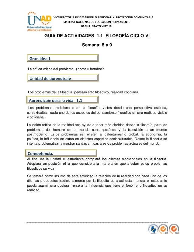 VICERRECTORIA DE DESARROLLO REGIONAL Y PROYECCIÓN COMUNITARIA SISTEMA NACIONAL DE EDUCACIÓN PERMANENTE BACHILLERATO VIRTUA...