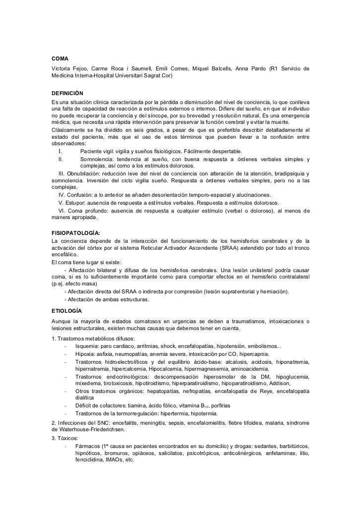 COMAVictoria Fejoo, Carme Roca i Saumell, Emili Comes, Miquel Balcells, Anna Pardo (R1 Servicio deMedicina Interna-Hospita...