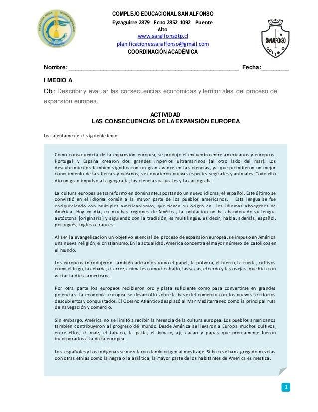 1 COMPLEJO EDUCACIONAL SAN ALFONSO Eyzaguirre 2879 Fono 2852 1092 Puente Alto www.sanalfonsotp.cl planificacionessanalfons...