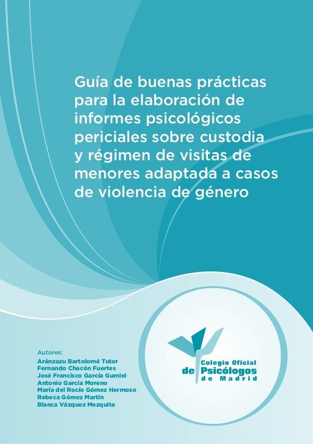 Guía de buenas prácticas para la elaboración de informes psicológicos periciales sobre custodia y régimen de visitas de me...