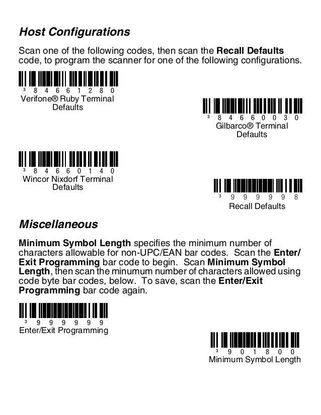 Honeywell Barcode Scanner Programming Sheet Erkalnathandedecker