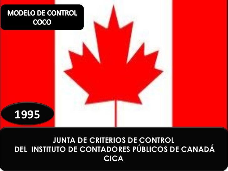 1995          JUNTA DE CRITERIOS DE CONTROLDEL INSTITUTO DE CONTADORES PÚBLICOS DE CANADÁ                       CICA