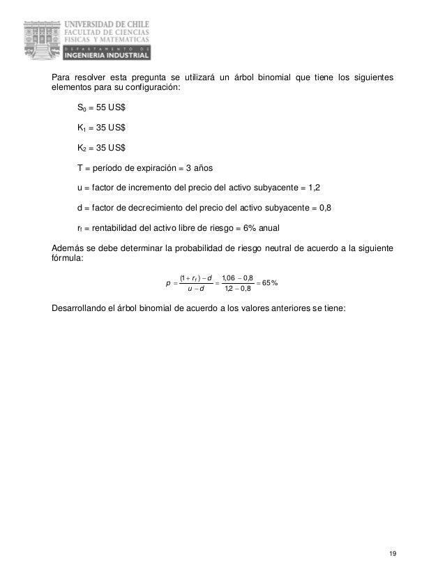 Modelo binomial de precios de opciones ppt