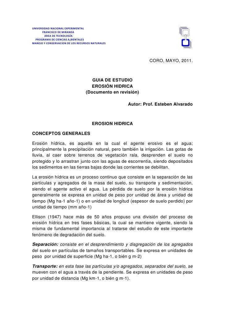UNIVERSIDAD NACIONAL EXPERIMENTAL      FRANCISCO DE MIRANDA        AREA DE TECNOLOGÍA  PROGRAMA DE CIENCIAS A,BIENTALESMAN...