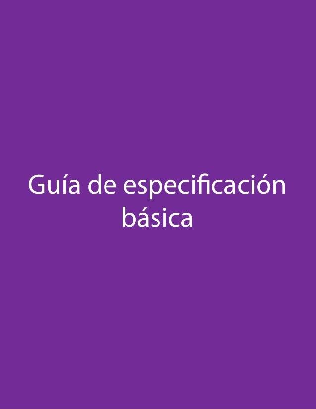 Guía de especificación básica