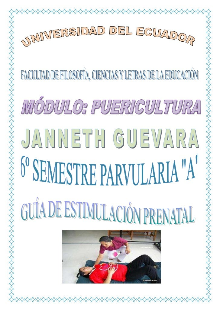 La Estimulación PrenatalLa estimulación prenatal es el proceso que promueve el aprendizaje en el bebé aun en el útero,opti...
