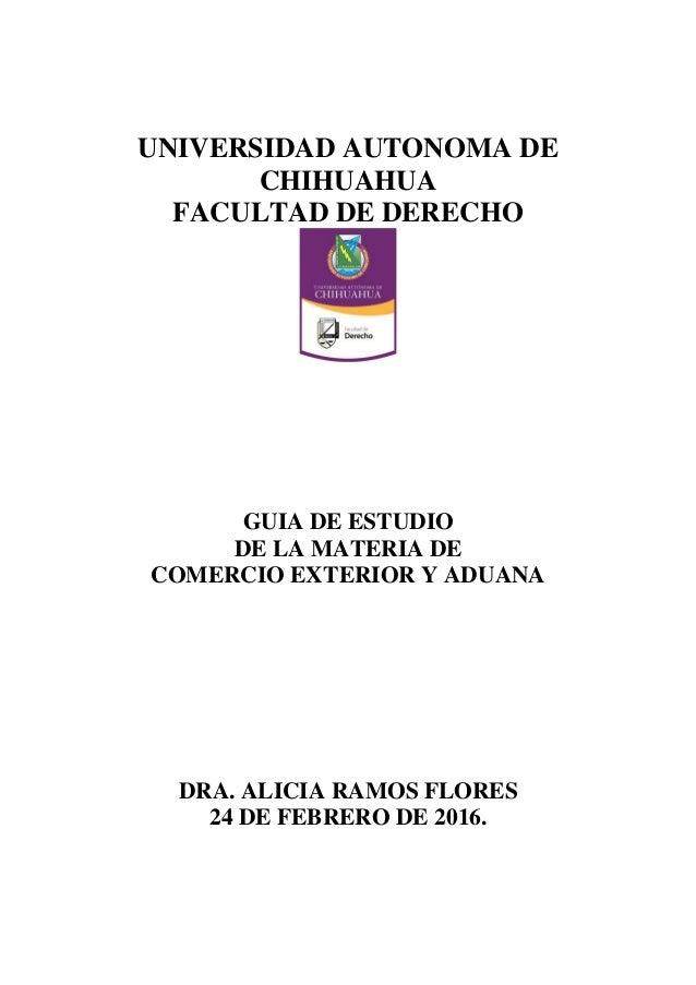 Guia de estudio de comercio exterior y aduana