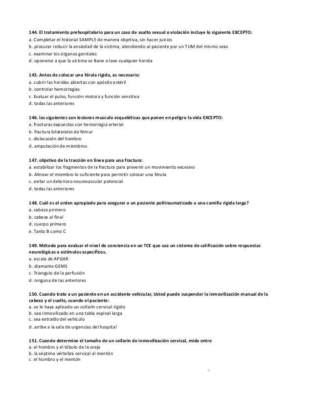 Guia de estudio examen final TUM-B paramedico